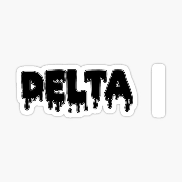 drippy delta Sticker