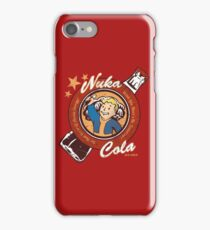 Fallout nuka cola logo featuring Vaultboy iPhone Case/Skin