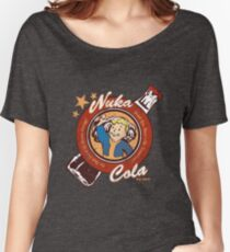 Fallout nuka cola logo featuring Vaultboy Women's Relaxed Fit T-Shirt