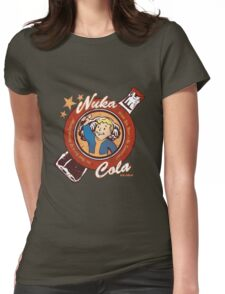 Fallout nuka cola logo featuring Vaultboy Womens Fitted T-Shirt