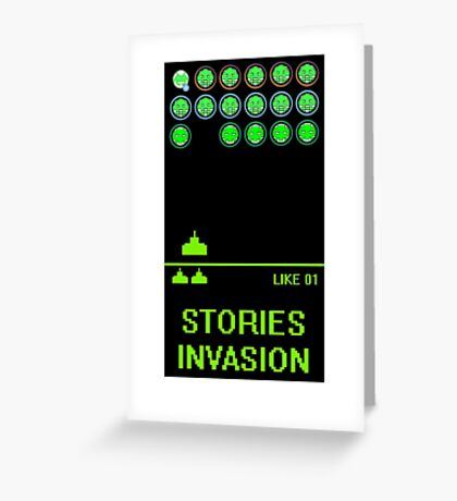 STORIES INVASION Greeting Card