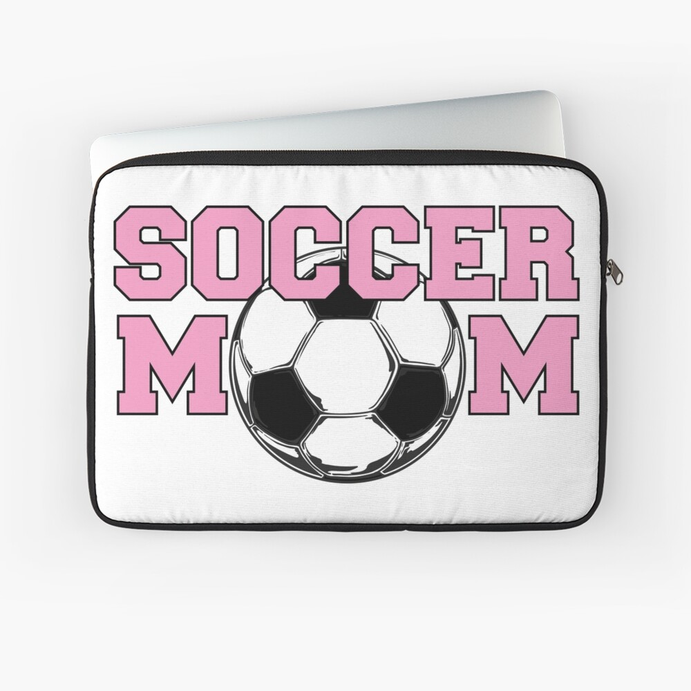 Soccer Mom Pink Laptop Sleeve Front