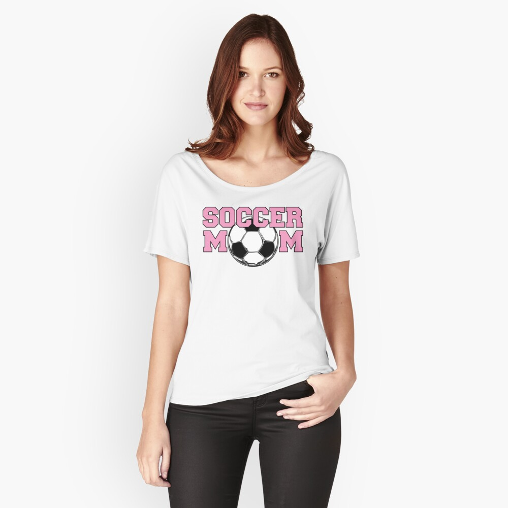 Soccer Mom Pink Women's Relaxed Fit T-Shirt Front