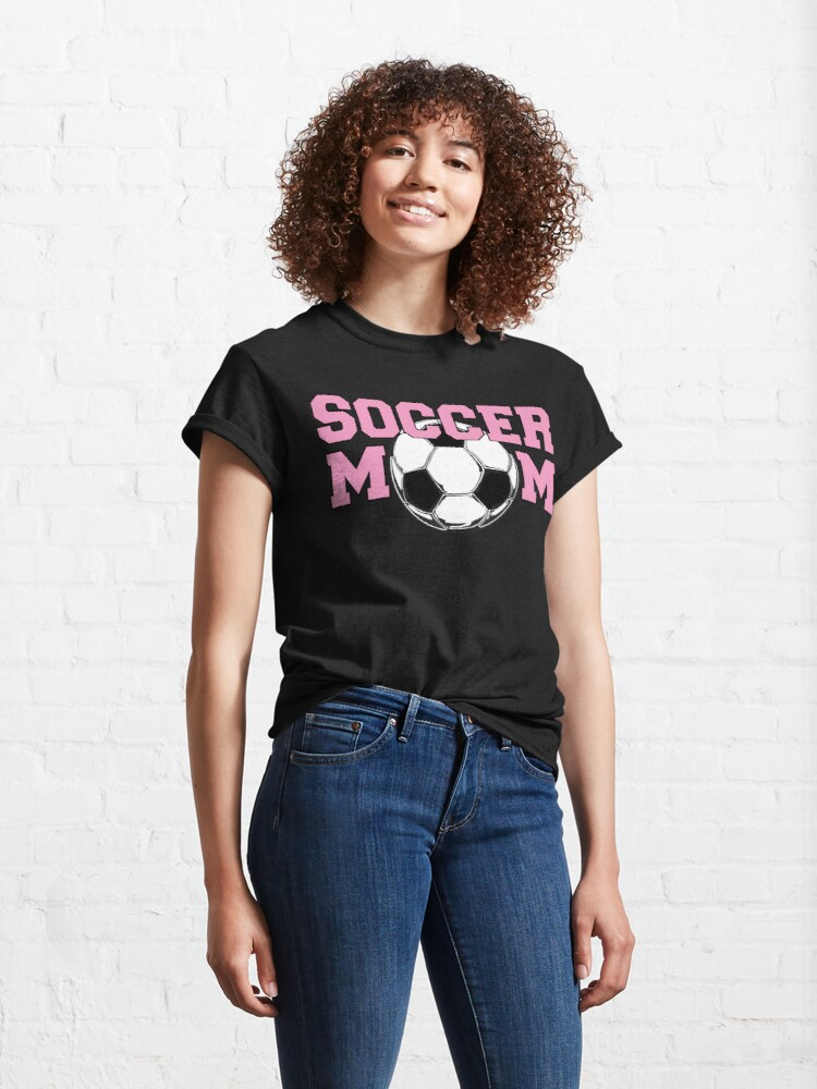 Alternate view of Soccer Mom Pink Classic T-Shirt