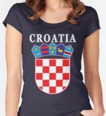 Croatia Deluxe Football Jersey Design Women's Fitted Scoop T-Shirt