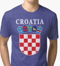 Croatia Deluxe Football Jersey Design Tri-blend T-Shirt