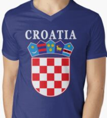 Croatia Deluxe Football Jersey Design Men's V-Neck T-Shirt