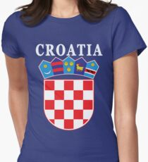 Croatia Deluxe Football Jersey Design Women's Fitted T-Shirt