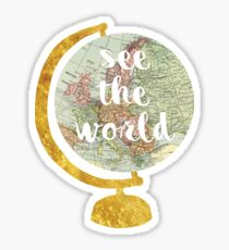 see the world globe 2 Sticker