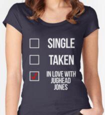 Single, Taken, In love with Jughead Jones-- White Women's Fitted Scoop T-Shirt