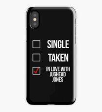 Single, Taken, In love with Jughead Jones-- White iPhone Case