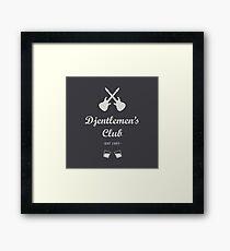 Djentlemen's Club Framed Print