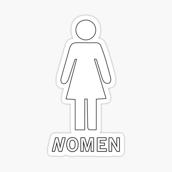 Restroom Unisex Funny  Vinyl Decal Sticker Window Decor Business Equality