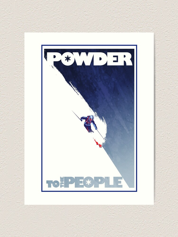 Alternate view of Powder to the People Art Print