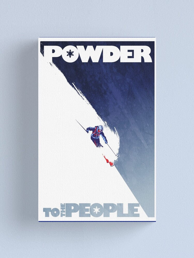 Alternate view of Powder to the People Canvas Print