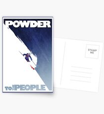 Powder to the People Postcards