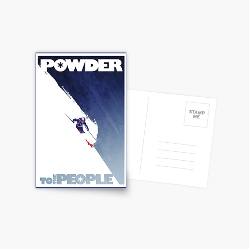 Powder to the People Postcard