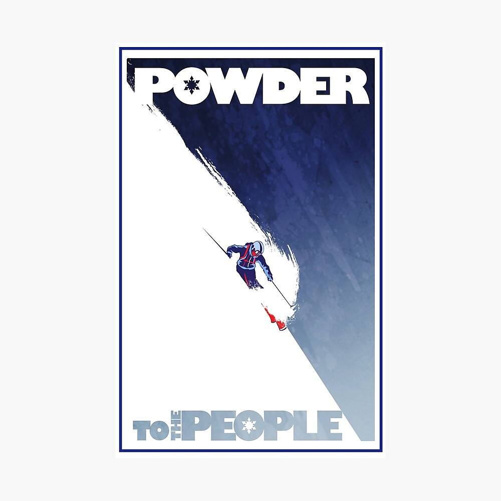 Powder to the People Photographic Print