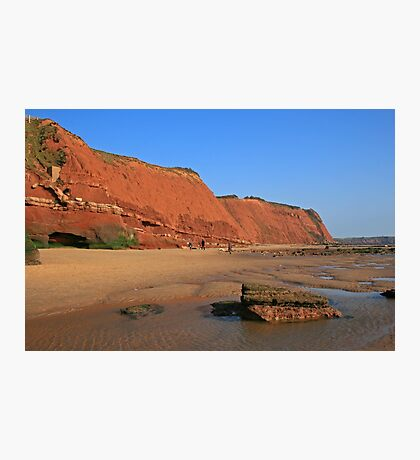 Red Cliffs of Devon Photographic Print