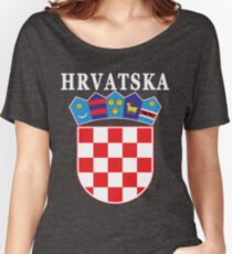 Croatia Hrvatska Deluxe National Jersey Women's Relaxed Fit T-Shirt
