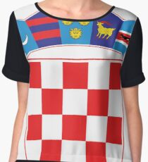 Croatia Hrvatska Deluxe National Jersey Chiffon Top