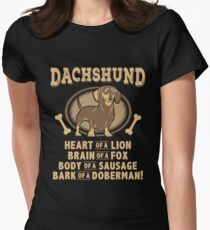 Dachshund - Heart Of A Lion! Womens Fitted T-Shirt