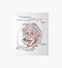 Albert Einstein Picture Quote - Insanity Art Board