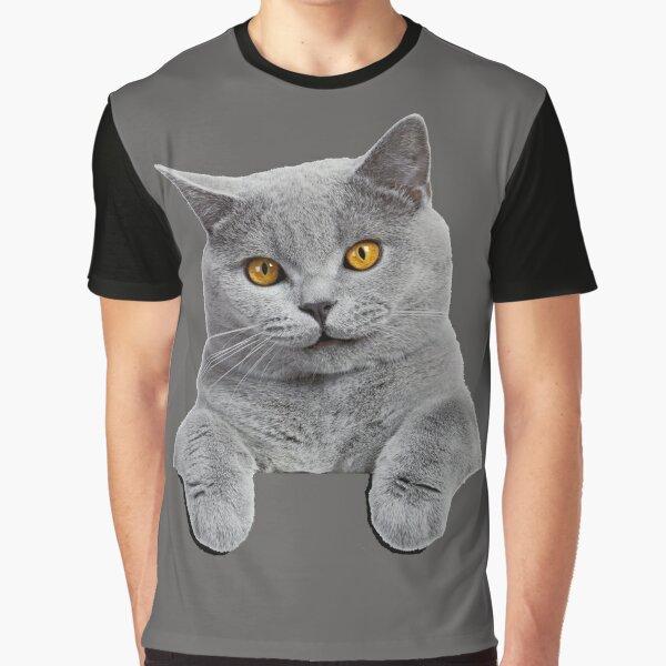 British Shorthair Cat Graphic T-Shirt