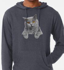British Shorthair Cat Lightweight Hoodie