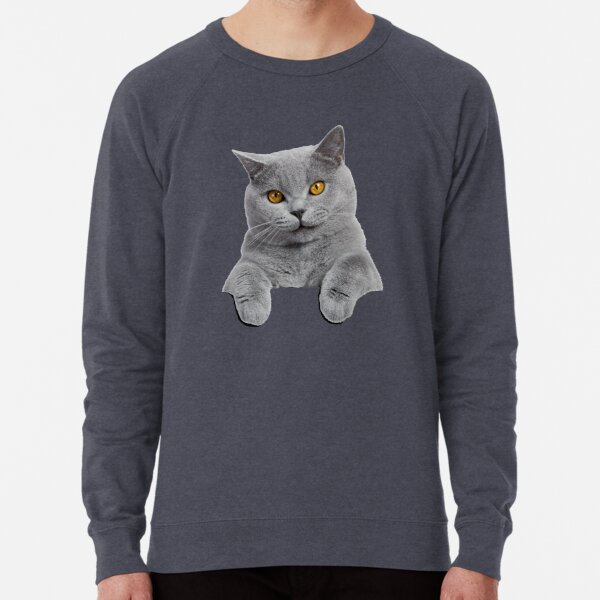British Shorthair Cat Lightweight Sweatshirt