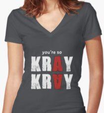 You're so Kray Kray Plain Version Women's Fitted V-Neck T-Shirt