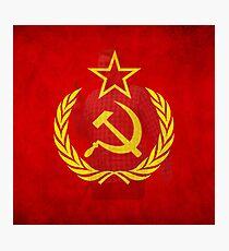 Communist flag Photographic Print