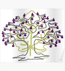 50 Figs on Tree Poster