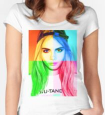 Cara Delevingne pencil portrait 3 Women's Fitted Scoop T-Shirt