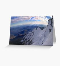 Moonlight Ridge Panorama, Mount Buller Greeting Card