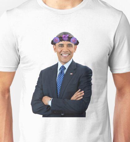 Obama Flower Crown Unisex T-Shirt