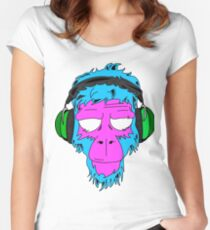 Jamming Monkey - Special Edition Aqua Women's Fitted Scoop T-Shirt