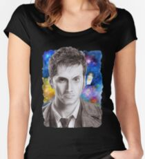 Doctor Who No.10 - David Tennant 1 Women's Fitted Scoop T-Shirt