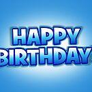 Blue Sky Happy Birthday Greetings Card by Ra12