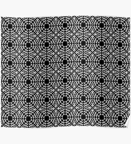 Black and White Kaleidoscope Poster