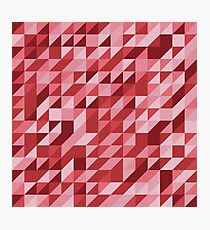 Red Vector Collage Photographic Print