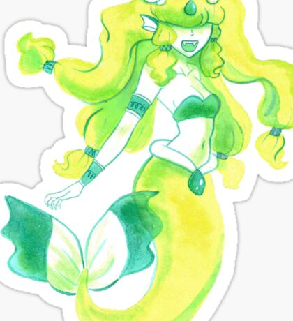 Yellow and Green Mermaid Sticker