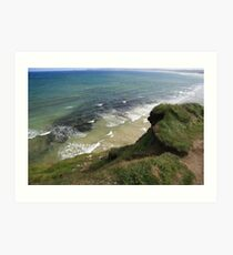 View form the Costal Path Art Print