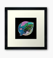 I'd rather be a shark Framed Print