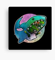 I'd rather be a shark Canvas Print