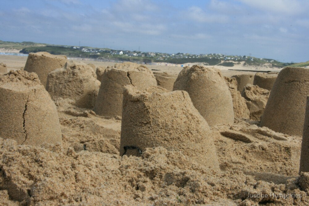 Sandcastles in the sun by Justine Humphries