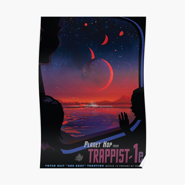 Trappist 1 -- Space Travel Poster Poster