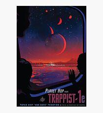 Trappist 1 - Weltraumreiseplakat Fotodruck