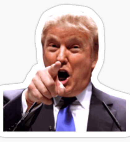 Donald Trump urinal sticker Sticker