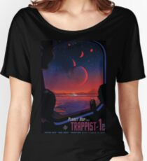 Trappist 1 -- Space Travel Poster Women's Relaxed Fit T-Shirt